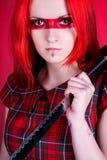 κόκκινο τριχώματος κοριτσιών στοκ φωτογραφίες με δικαίωμα ελεύθερης χρήσης