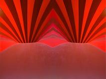 κόκκινο τρυπών Στοκ Εικόνα