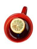 κόκκινο τσάι λεμονιών φλυτζανιών Στοκ φωτογραφίες με δικαίωμα ελεύθερης χρήσης