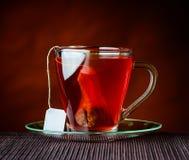 Κόκκινο τσάι με Tea-Bag Στοκ Εικόνες