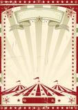 Κόκκινο τσίρκο αναδρομικό. απεικόνιση αποθεμάτων