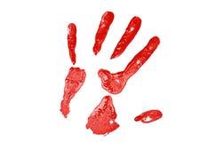 κόκκινο τυπωμένων υλών χεριών Στοκ Εικόνες