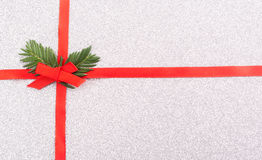 Κόκκινο τόξο κορδελλών δώρων Στοκ φωτογραφία με δικαίωμα ελεύθερης χρήσης