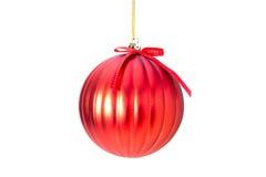 κόκκινο τύλιγμα απεικόνισης Χριστουγέννων τόξων σφαιρών ανασκόπησης Στοκ φωτογραφίες με δικαίωμα ελεύθερης χρήσης