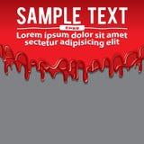Κόκκινο υγρό χρώμα, Dribble έμβλημα διανυσματική απεικόνιση