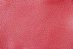 Κόκκινο υπόβαθρο δέρματος χρωμάτων γνήσιο, φυσική σύσταση για το σκηνικό, υπόστρωμα, χρήση σύνθεσης Με τη θέση για το σας Στοκ εικόνες με δικαίωμα ελεύθερης χρήσης