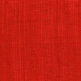 Κόκκινο υπόβαθρο λινού Στοκ Εικόνα