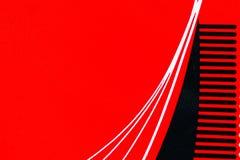 Κόκκινο υπόβαθρο καμπυλών Στοκ Φωτογραφίες