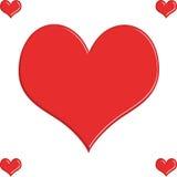 Κόκκινο υπόβαθρο καρδιών, ταπετσαρία Διανυσματική απεικόνιση