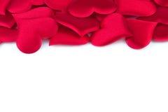 Κόκκινο υπόβαθρο καρδιών Στοκ φωτογραφίες με δικαίωμα ελεύθερης χρήσης