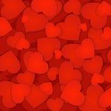 Κόκκινο υπόβαθρο καρδιών Στοκ Φωτογραφίες