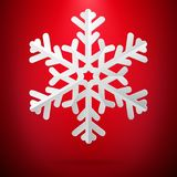 Κόκκινο υπόβαθρο με snowflake εγγράφου 10 eps διανυσματική απεικόνιση