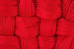 Κόκκινο υπόβαθρο νήματος κεντητικής Στοκ Εικόνες