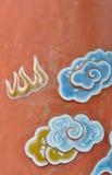 Κόκκινος τοίχος της Κίνας τέχνης στοκ εικόνες
