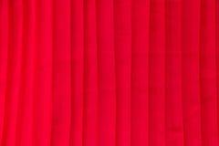 Κόκκινο υπόβαθρο υφάσματος πτυχών Στοκ Εικόνες