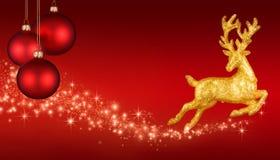 Κόκκινο υπόβαθρο φαντασίας Χριστουγέννων στοκ εικόνα