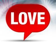 Κόκκινο υπόβαθρο φυσαλίδων αγάπης απεικόνιση αποθεμάτων