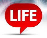 Κόκκινο υπόβαθρο φυσαλίδων ζωής ελεύθερη απεικόνιση δικαιώματος