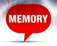 Κόκκινο υπόβαθρο φυσαλίδων μνήμης απεικόνιση αποθεμάτων
