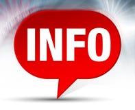 Κόκκινο υπόβαθρο φυσαλίδων πληροφοριών διανυσματική απεικόνιση
