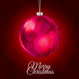 Κόκκινο υπόβαθρο Χριστουγέννων απεικόνιση αποθεμάτων