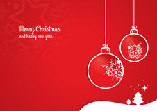 Κόκκινο υπόβαθρο Χριστουγέννων Στοκ Φωτογραφίες