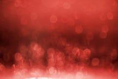 Κόκκινο υπόβαθρο bokeh. Στοκ Εικόνες