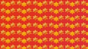 Κόκκινο υπόβαθρο Magen Δαβίδ διανυσματική απεικόνιση