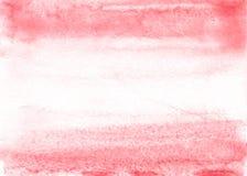 Κόκκινο υπόβαθρο watercolor χεριών οικολογίας, απεικόνιση ράστερ ελεύθερη απεικόνιση δικαιώματος