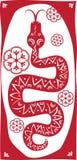 Κόκκινο φίδι ελεύθερη απεικόνιση δικαιώματος