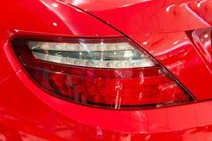 Κόκκινο φίλαθλο αυτοκίνητο Στοκ Φωτογραφία