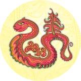Κόκκινο φίδι Στοκ εικόνα με δικαίωμα ελεύθερης χρήσης