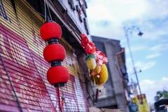 Κόκκινο φανάρι στην πόλη Στοκ εικόνα με δικαίωμα ελεύθερης χρήσης