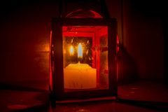Κόκκινο φανάρι στοκ φωτογραφία με δικαίωμα ελεύθερης χρήσης