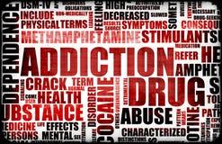 κόκκινο φαρμάκων εθισμού διανυσματική απεικόνιση