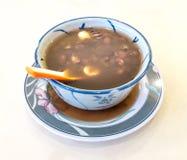 Κόκκινο φασόλι με τη σούπα Gingko Στοκ Εικόνες