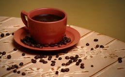 κόκκινο φλυτζανιών καφέ Στοκ Εικόνα