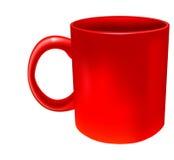κόκκινο φλυτζανιών Στοκ Εικόνα