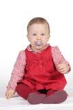 κόκκινο φορεμάτων παιδιών στοκ φωτογραφίες