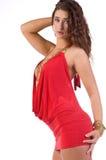κόκκινο φορεμάτων Στοκ Φωτογραφίες
