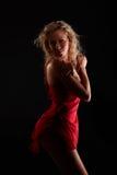 κόκκινο φορεμάτων Στοκ φωτογραφία με δικαίωμα ελεύθερης χρήσης