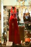 κόκκινο φορεμάτων Στοκ φωτογραφίες με δικαίωμα ελεύθερης χρήσης