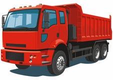 Κόκκινο φορτηγό απορρίψεων Στοκ εικόνα με δικαίωμα ελεύθερης χρήσης