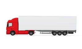 Κόκκινο φορτηγό παράδοσης φορτίου Στοκ εικόνα με δικαίωμα ελεύθερης χρήσης
