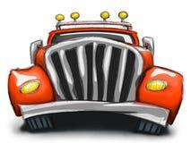 Κόκκινο φορτηγό Διανυσματική απεικόνιση