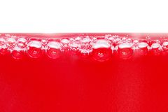 κόκκινο φυσαλίδων Στοκ Φωτογραφία