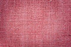 Κόκκινο φυσικό υπόβαθρο σύστασης λινού Στοκ εικόνες με δικαίωμα ελεύθερης χρήσης