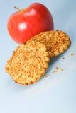 κόκκινο φυστικιών μπισκότων τσιπ μήλων Στοκ Φωτογραφίες
