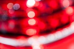 Κόκκινο φως κύκλων στοκ φωτογραφίες