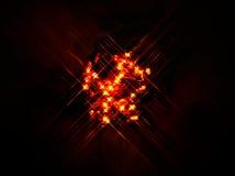 Κόκκινο φως πυράκτωσης Στοκ Φωτογραφία